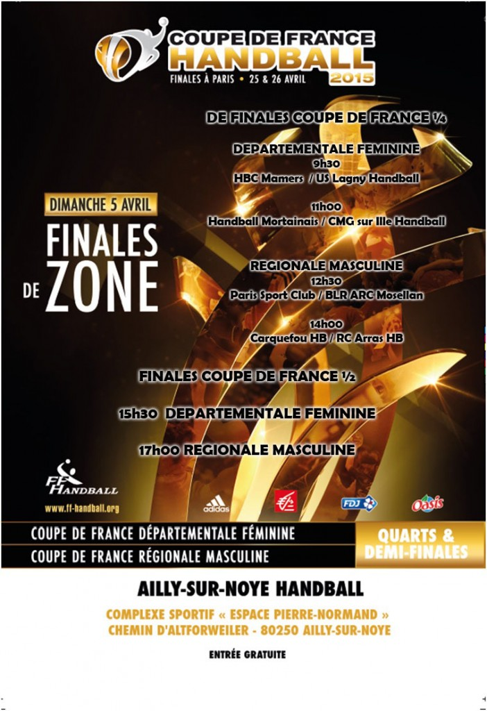 1 4 et 1 2 finale de coupe de france racing club arras handball site officiel - Coupe de france en direct france 2 ...